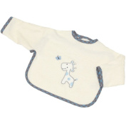 Be Be's Collection Sleeve Bib with Hook and loop Fastener 33 x 45 Giraffe Blue