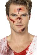 Smiffy's 46852 Zombie Plaster Wound Transfers, Flesh, One Size