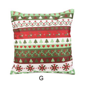 SMILEQ Xmas Square Decorative Pillowcases Christmas Sofa Cushion Cover Home Happy New Party Decor
