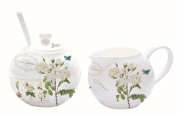 Easy Life Porcelain Sugar Bowl with Spoon and Milk Jug – 22 x 14 x 9 cm