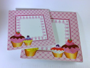 """'PPD Gemany – Small plate Porcelain Dessert Plates, Model """"Cupcakes; Series' Party Time 'Design"""