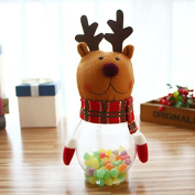 Christmas Candy Dish Box Bottle Xmas Candy Jar Candy Box Sugar Bowl Christmas Gift Container with Cute Toys
