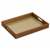 Tray With Glass Base Milord