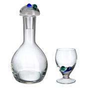 Bohemia Crystal Liquor Set, Glass, 34 x 14 x 31 cm, 7 Pieces