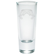 Tribal Mosaic Elephant Etched Shot Glass Shooter Clear Glass Standard One Size