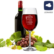 """'XXL Leo ADRO """"If dad can't repair it Wine Glass – There Can Be No. – Red/White Wine Glass – Wine Lovers Gift Idea for Him – Father's Day Gift"""