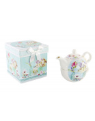 Home and more - Teapot, cup and box-Model Blue Flowers