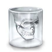 Decdeal Crystal Skull Beer Wine Glass Personality Bar Water Cup Double Layer Transparent Unique