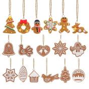 FENICAL Christmas Tree Ornaments Animals Hand Snowflake Pendants Christmas Tree decoration 17Pcs