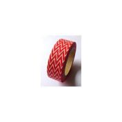 Love My Tapes Washi Tape 15mmX10m-Red Skinny Minnie Zigzag