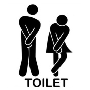 Wall Stickers, KEERADS Funny Toilet Entrance Sign Decal Vinyl Sticker For Shop Office Home Cafe Hotel