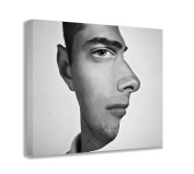 MIND BLOWING OPTICAL ILLUSION FACE CANVAS WALL ART