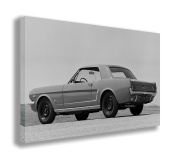 VINTAGE FORD MUSTANG REAR CANVAS WALL ART