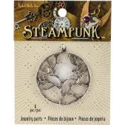 Steampunk Metal Pendant 1pk, Tree Branch Silver