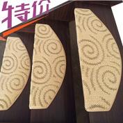 Stair carpet mat, free glue, self suction,65×24cm o
