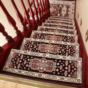Home solid wood staircase carpet cushion free adhesive, self-adhesive, anti-skid,26×75cm f