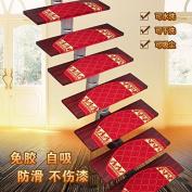 Stair carpet mat, free glue, self suction,65×24cm g