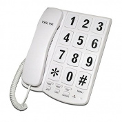 Tel UK 18041W New Yorker Big Button Telephone - White