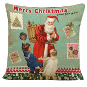 Christmas Throw Pillow Case Cushion Cover Mingfa Soft Christmas Elk Christmas Tree Santa Claus Home Decor for Bed Living Room