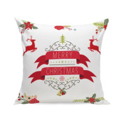 Christmas Throw Pillow Case Mingfa Super SoSquare ft Christmas Elk Pillowcase Home Decor Sofa Cushion Cover
