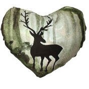 Christmas Pillow Cases Mingfa Super Soft Comfortable Heart Shaped Elk Pattern Sofa Waist Throw Cushion Cover Home Decor