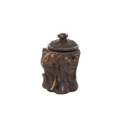 Nklaus Heavy Elephant Incense Burner Brass Table Decoration Home Scenting Gift Antique Brown 1587