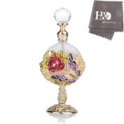 Clear Vintage Rose Perfume Bottle Jewelled Crystal Empty Refillable Wedding Decor Bottle