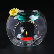 Glass Candle Candlestick Fragrance oil Incense Holder Spa