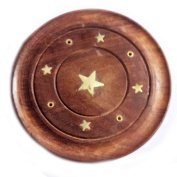 Wooden Incense Saucer Plate Holder star Design