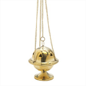 Nklaus Cast Iron Incense Holder with Brass Tray, handmade gift
