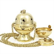 Nklaus Incense Holder with Brass Tray, handmade gift - Gold