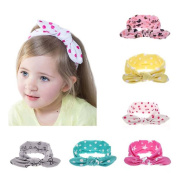 Enuo Cute Baby Girls KidsTurban Headband Rabbit Ear Headband Hair Bands
