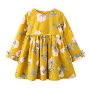 KEERADS Baby Christmas Dress, Girls Long Sleeve Floral Bowknot Tutu Dresses Tops