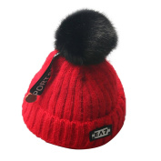 KEERADS Baby Hat, Warm Winter Kids Baby Letter Cotton Hats Knitted Hemming Skullies Beanies Hat