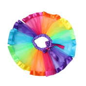 Jiele Baby Girls Layered Rainbow Tutu Ballet Dance Tulle Skirt Ruffle Tiered Dress for 0-8T Girls