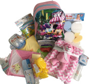 New Born Baby Girl Gift ideas 10 Pieces unique Package Bundle Set Essentials Present baby shower accessories Kit bath-blanket-toy-book,bottle Christmas – birthday – christening occasions