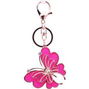 Mxixi Creativity Crystal Fashion Exquisite Butterfly Shape Purse Pendant Handbag Charm Alloy Shell Keychain Key Ring Keyfob