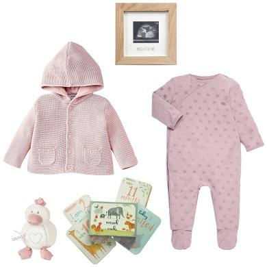 Mamas & Papas AW17 Bundle of Joy Baby Gift Hamper, Pink