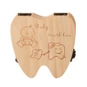 Per Baby Deciduous Teeth Lanugo Hair Wooden Box Originality Souvenir For Baby Teeth Collection