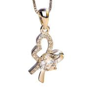 Cdet 1x Necklace Chain Diamond Pendant Jewellery Birthday Gift for Women Ladies Girls