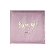 Just Contempo Baby Girl Photo Album Anniversary Christening Gift, Pink, 19 x 17 x 1 cm