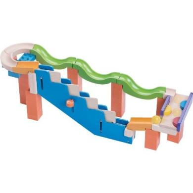 Wonderworld Marble Run Up Stairs Track Kids Building Blocks Toy Wood HOUT192452