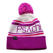 Psychi Knitted Bobble Mixed Yarn Beanie Hat Mens Ladies Unisex Woolly Winter Warm Sports Climbing