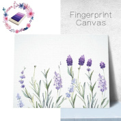 LNPP Lavender Fingerprint Tree Canvas Painting DIY Guestbook Sign-in Book Fingerprints Tree Painting for Wedding Birthday Party with 4pcs Ink Pads