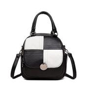 BOAOGOS Women Bags Fall Winter PU Backpack Zipper for Casual Outdoor Black/White Wine Purple Grey Bronze,Black/White