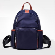 BOAOGOS Women Bags All Seasons PU Backpack Pockets Zipper for Casual Outdoor Office & Career Travelling Black Blue,Blue