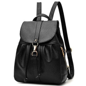 BOAOGOS Women Bags All Seasons PU Backpack Metallic for Event/Party Casual Black,Black