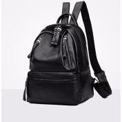 BOAOGOS Women Bags All Season PU Backpack Zipper for Outdoor Black,Black