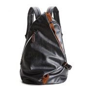 BOAOGOS Men Bags All Seasons PU Backpack Zipper for Casual Blue Black,Black