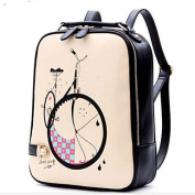 BOAOGOS Women Bags Winter PU Backpack for Casual Black,Black